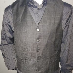 Tasso Elba Glenn Plaid Vest 42S Excellent Conditio